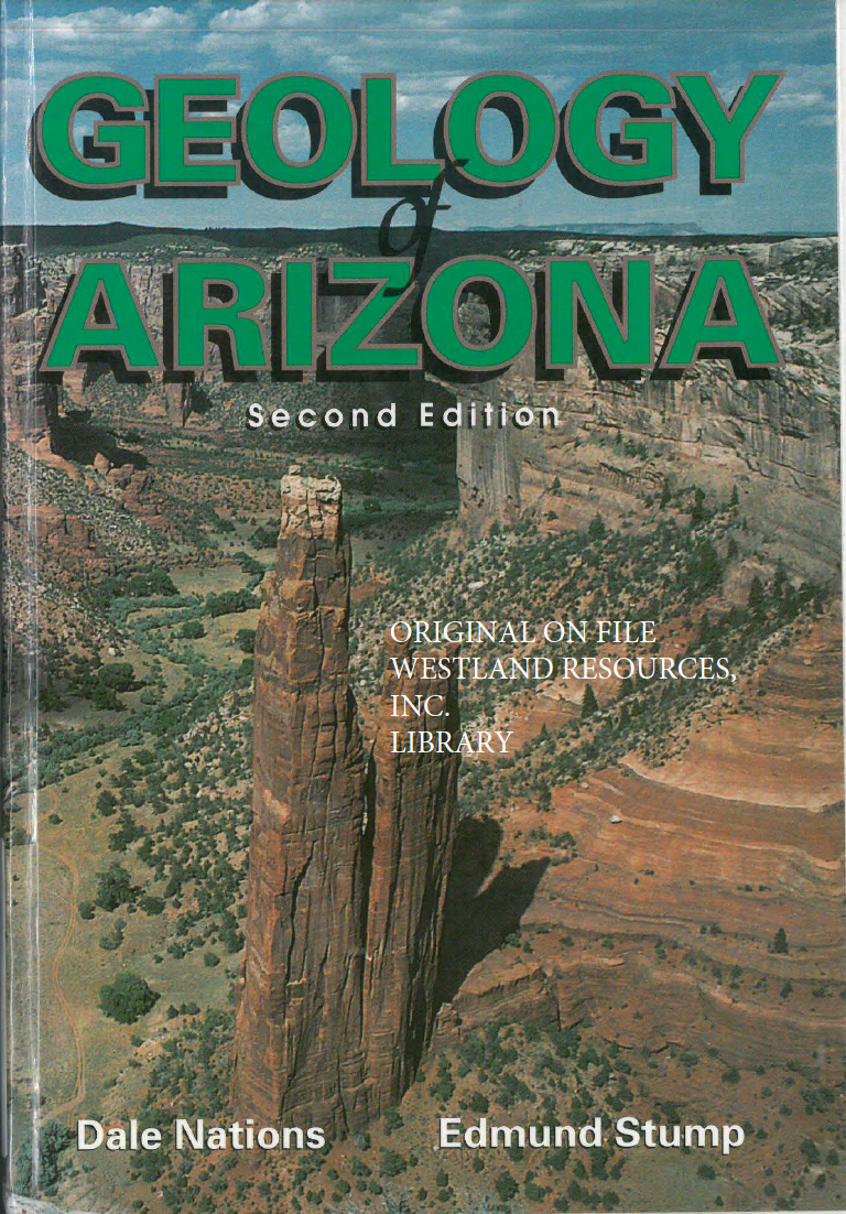 Thumbnail image of document cover: Geology of Arizona