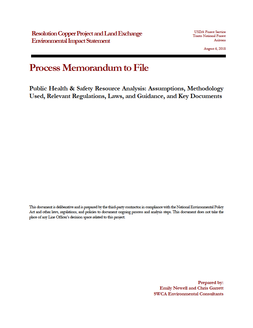 Thumbnail image of document cover: Public Health and Safety Resource Analysis: Assumptions, Methodology Used, Relevant Regulations, Laws, and Guidance, and Key Documents