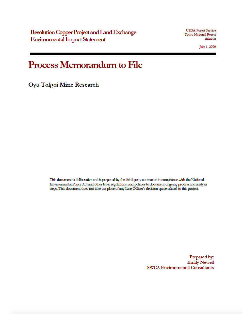 Thumbnail image of document cover: Oyu Tolgoi Mine Research