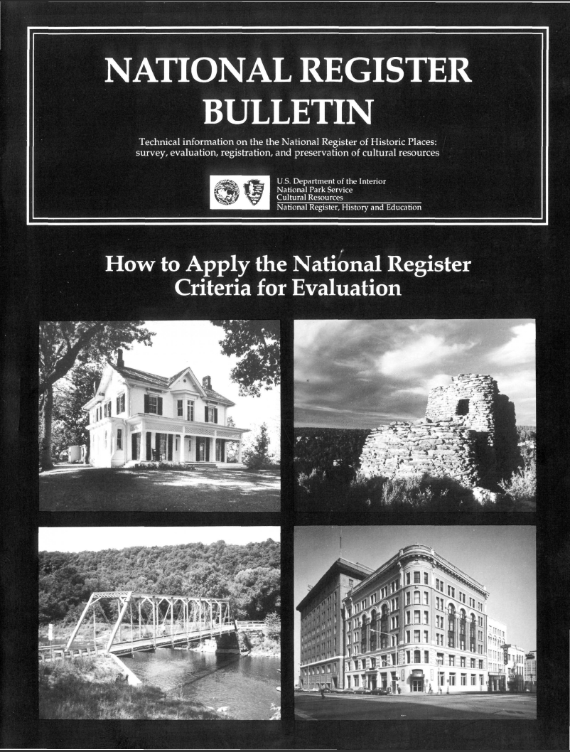 Thumbnail image of document cover: How to Apply the National Register Criteria for Evaluation