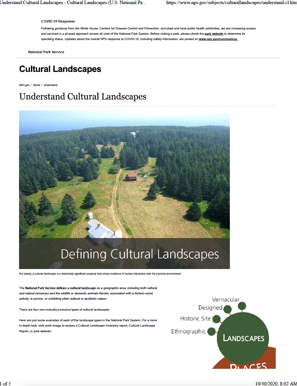 Thumbnail image of document cover: Understand Cultural Landscapes