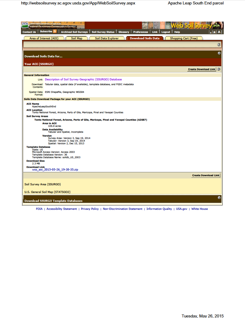 Thumbnail image of document cover: Web Soil Survey