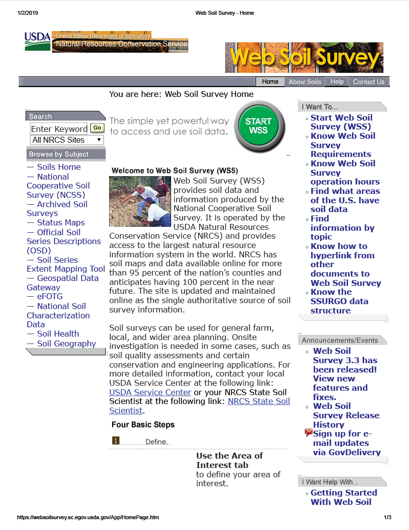 Thumbnail image of document cover: Web Soil Survey