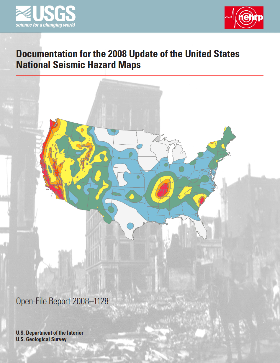 Thumbnail image of document cover: Documentation for the 2008 Update of the United States National Seismic Hazard Maps