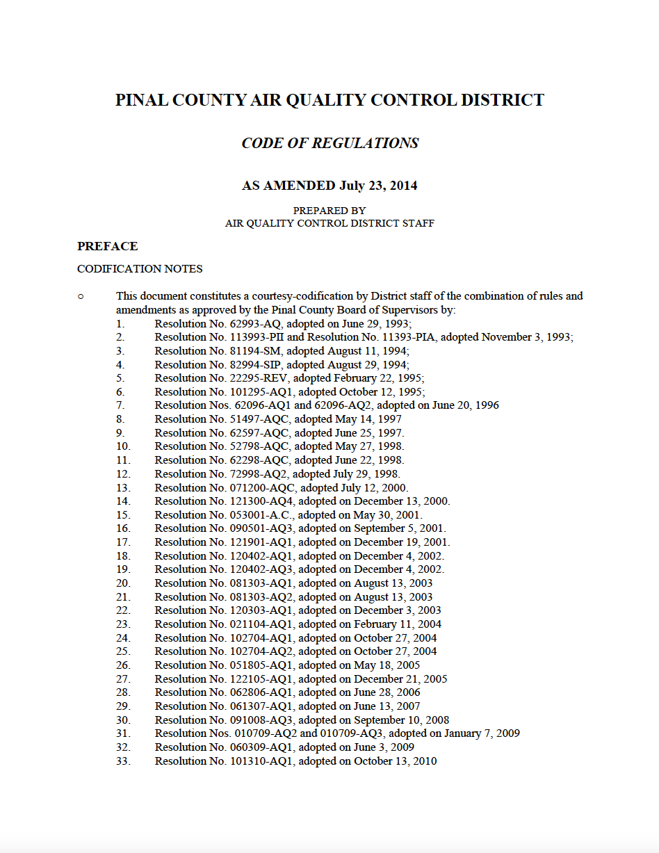 Thumbnail image of document cover: Code of Regulations
