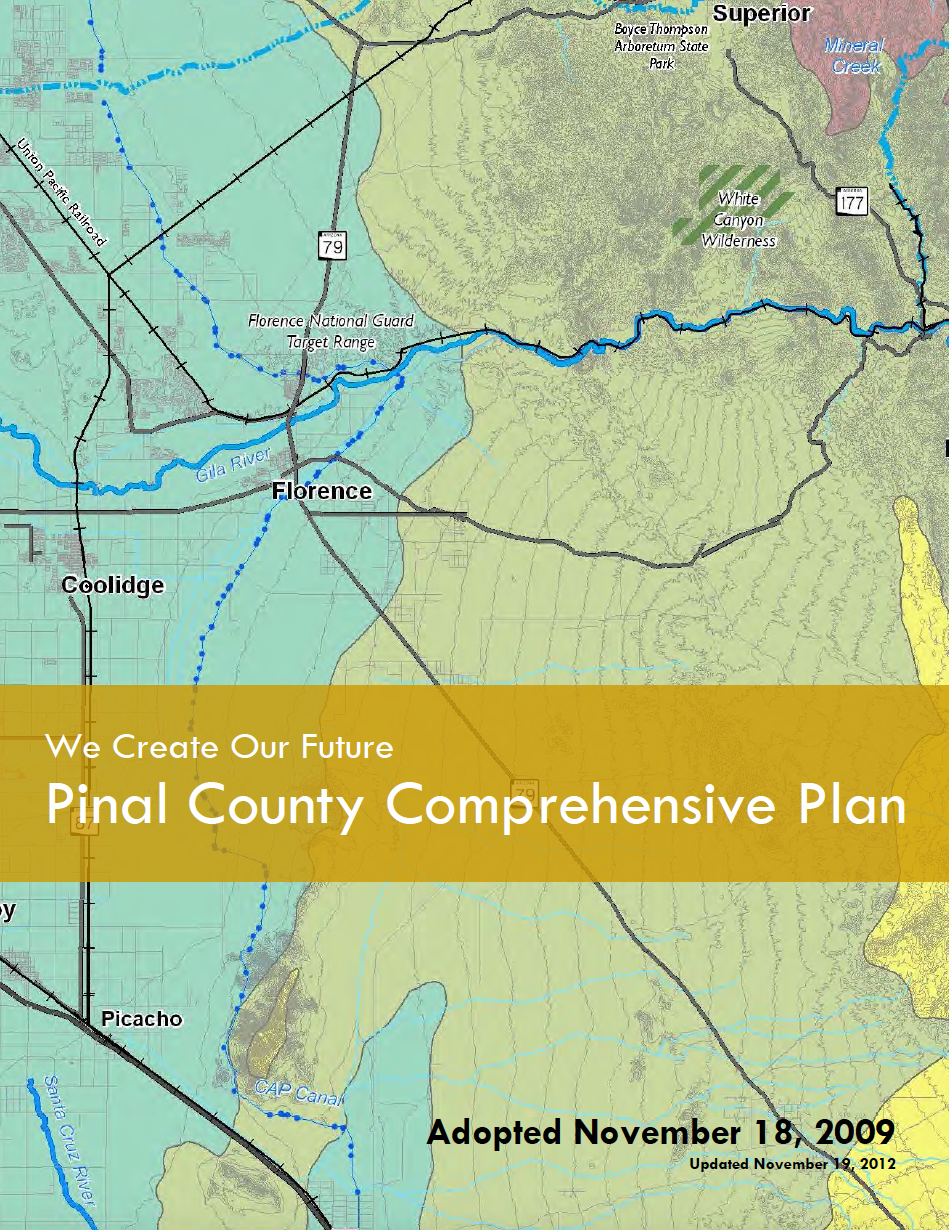 Thumbnail image of document cover: We Create Our Future: Pinal County Comprehensive Plan