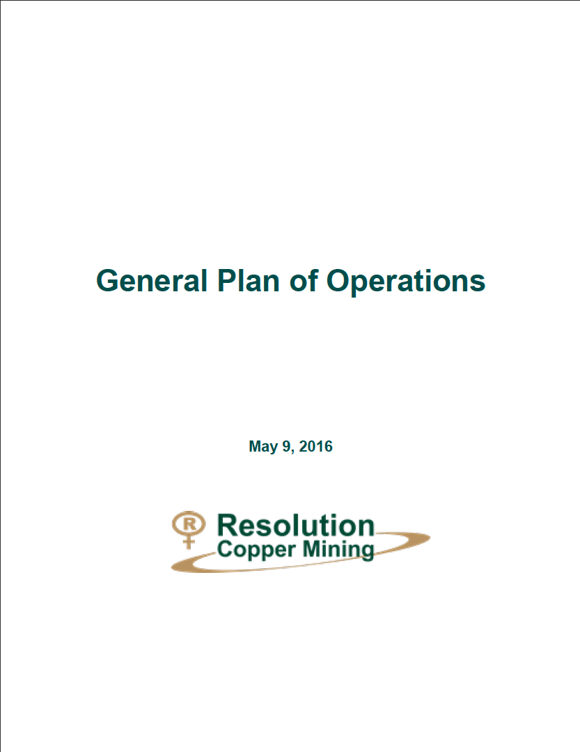 Thumbnail image of document cover: General Plan of Operations