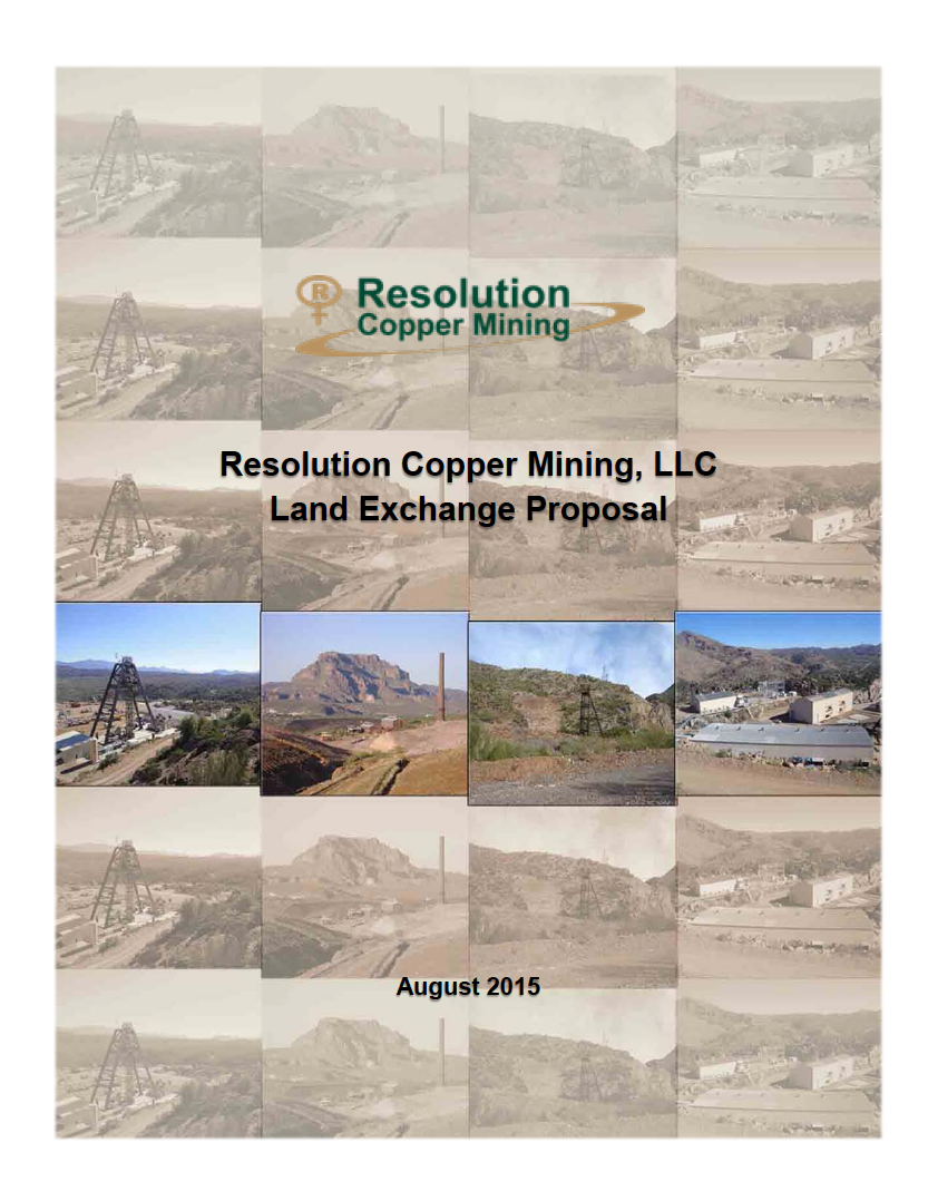 Thumbnail image of document cover: Resolution Copper Mining Land Exchange Proposal