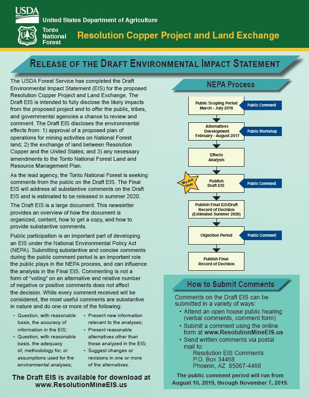Thumbnail image of document cover: Draft EIS Newsletter