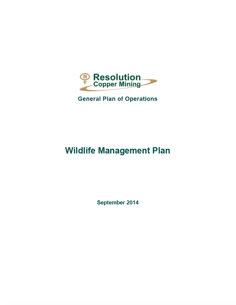 Thumbnail image of document cover: Appendix X: Wildlife Management Plan