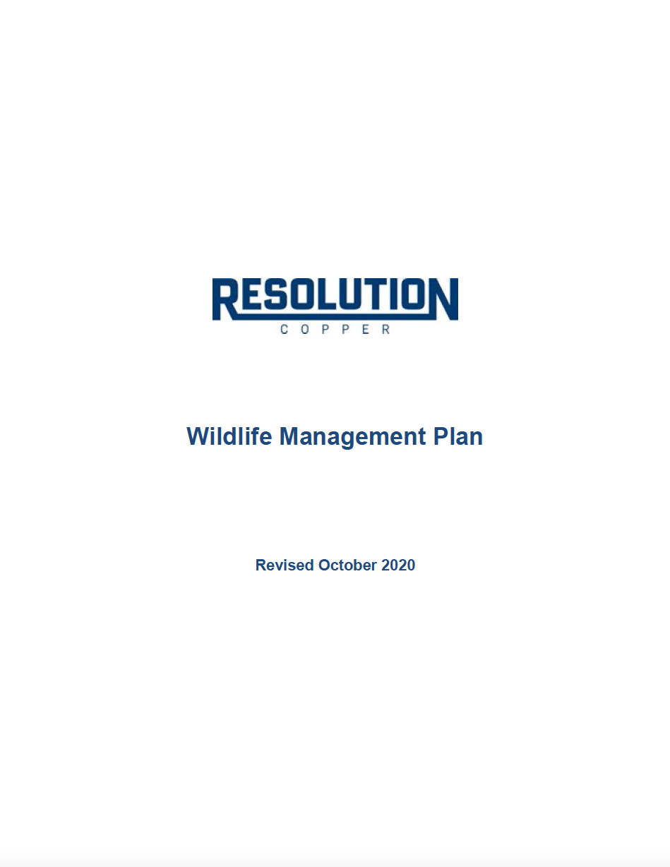 Thumbnail image of document cover: Wildlife Management Plan