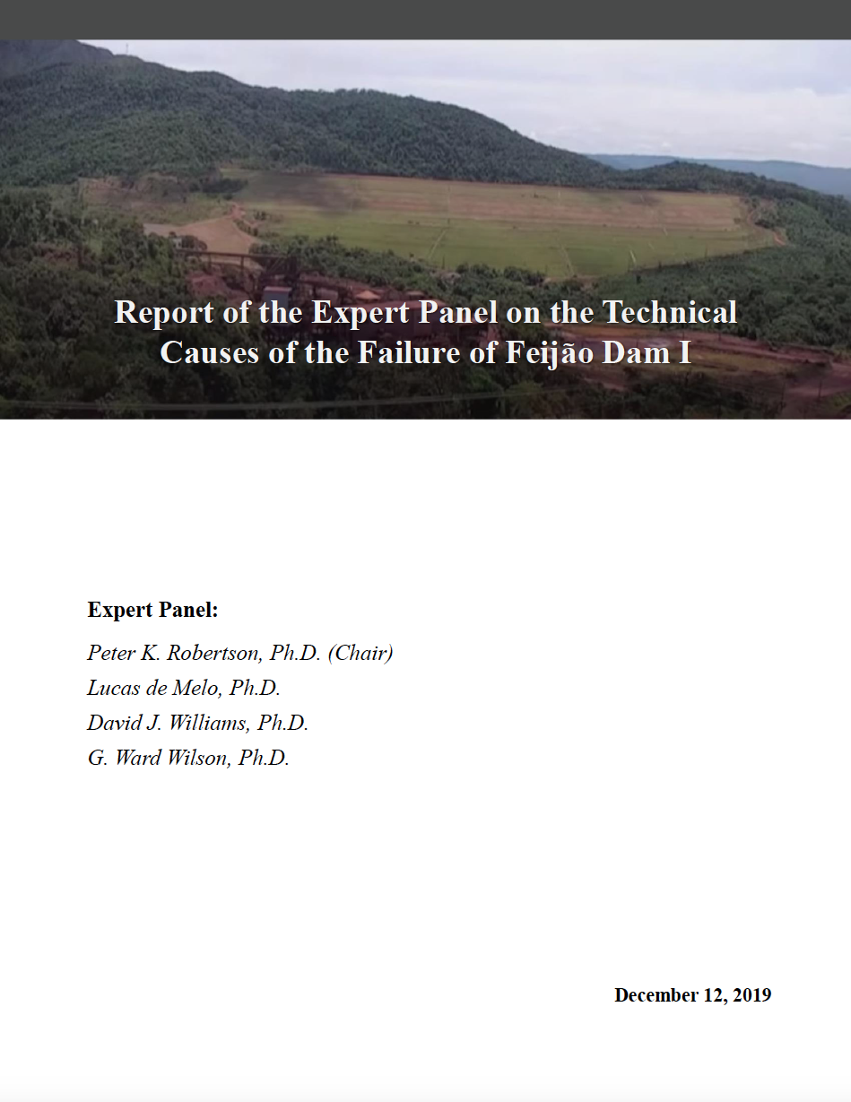 Thumbnail image of document cover: Report of the Expert Panel on the Technical Causes of the Failure of Feijão Dam I