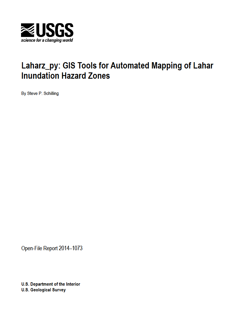 Thumbnail image of document cover: Laharz_py: GIS Tools for Automated Mapping of Lahar Inundation Hazard Zones