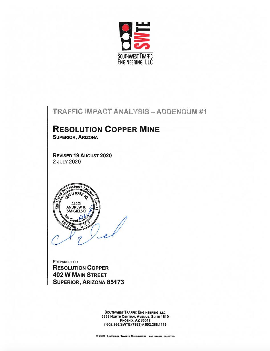 Thumbnail image of document cover: Traffic Impact Analysis - Addendum #1