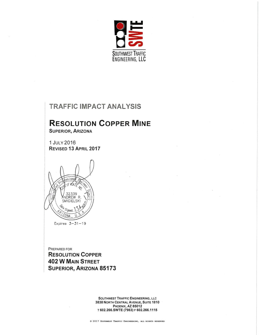Thumbnail image of document cover: Traffic Impact Analysis