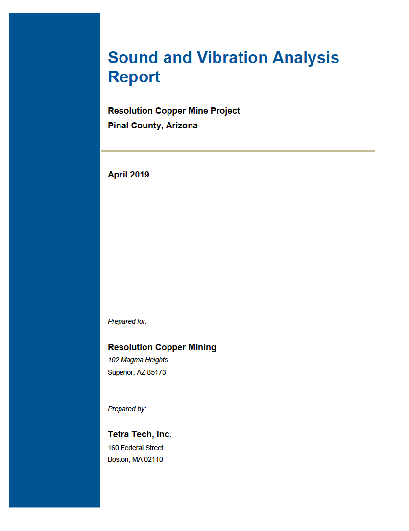 Thumbnail image of document cover: Sound and Vibration Analysis Report