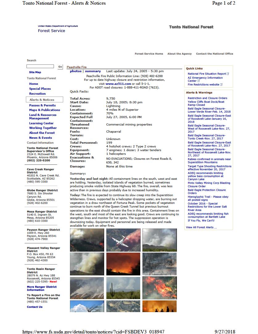 Thumbnail image of document cover: Peachville Fire