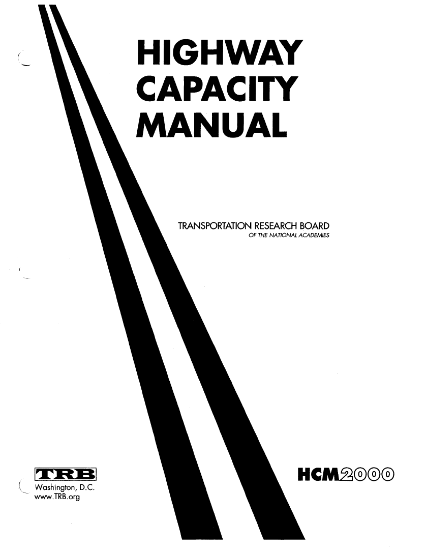 Thumbnail image of document cover: Highway Capacity Manual