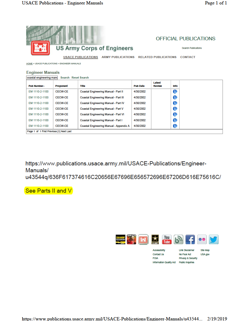 Thumbnail image of document cover: Coastal Engineering Manual
