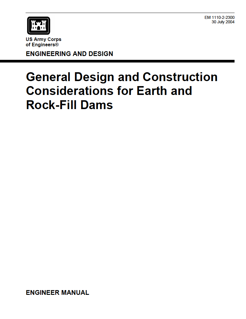 Thumbnail image of document cover: General Design and Construction Considerations for Earth and Rock-Fill Dams