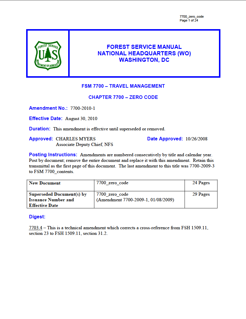 Thumbnail image of document cover: Chapter 7703.26 - Adding Roads to the Forest Transportation System