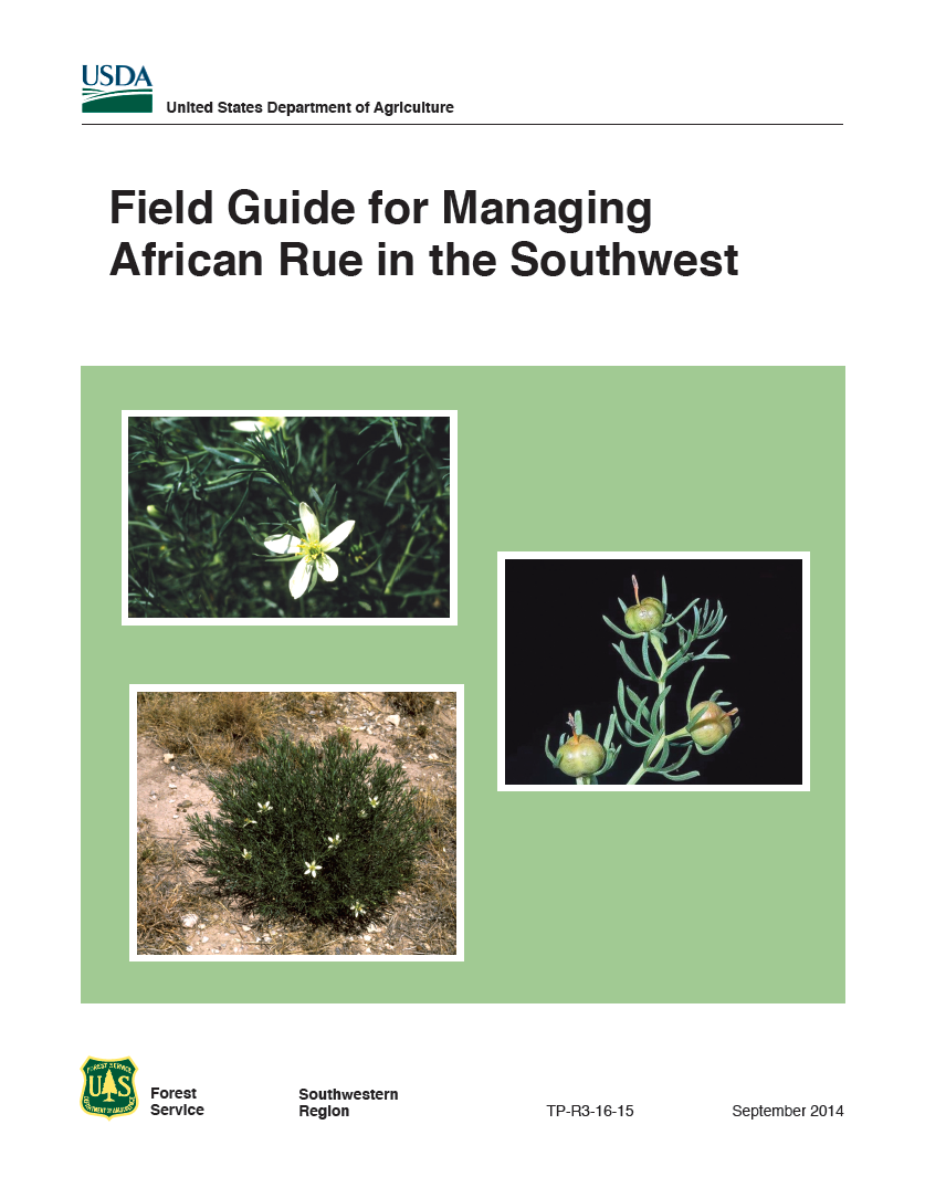 Thumbnail image of document cover: Field Guide for Managing African Rue in the Southwest