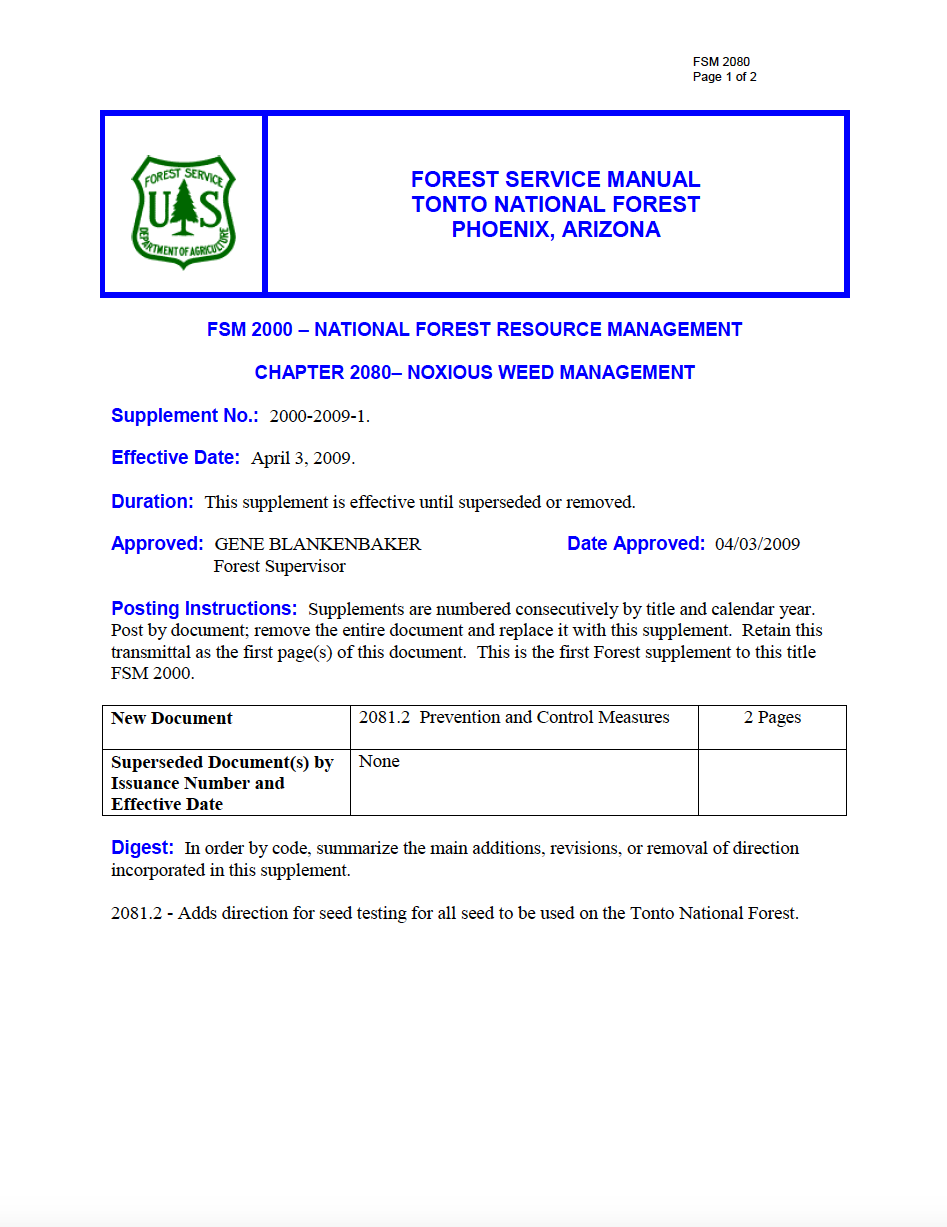 Thumbnail image of document cover: Noxious Weed Management