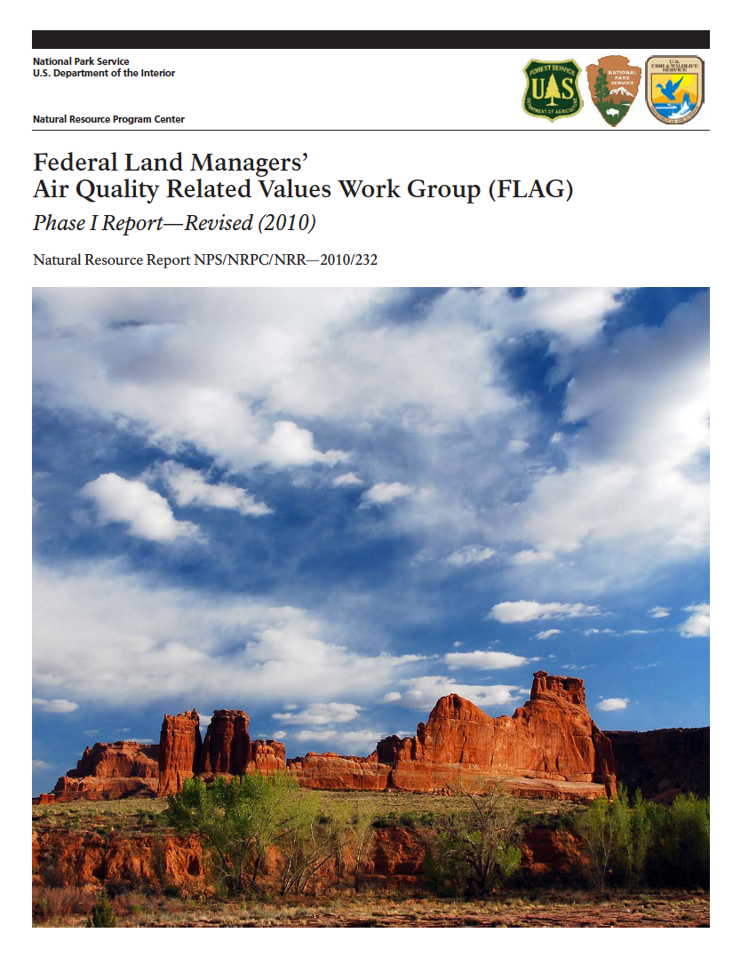 Thumbnail image of document cover: Federal Land Managers' Air Quality Related Values Work Group (FLAG): Phase I Report - Revised (2010)