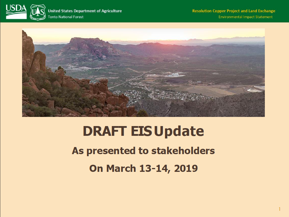 Thumbnail image of document cover: Update on Draft EIS