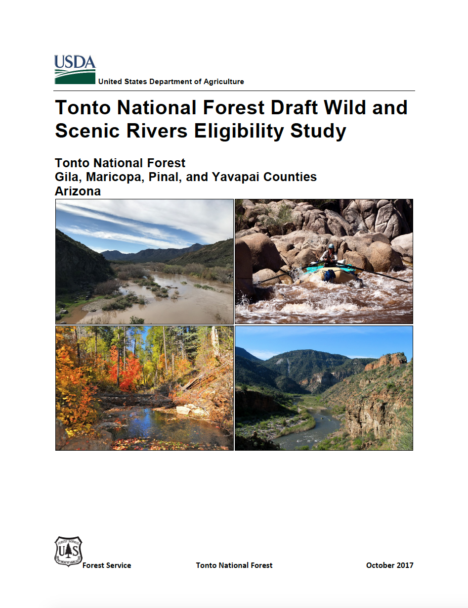 Thumbnail image of document cover: Tonto National Forest Draft Wild and Scenic Rivers Eligibility Study