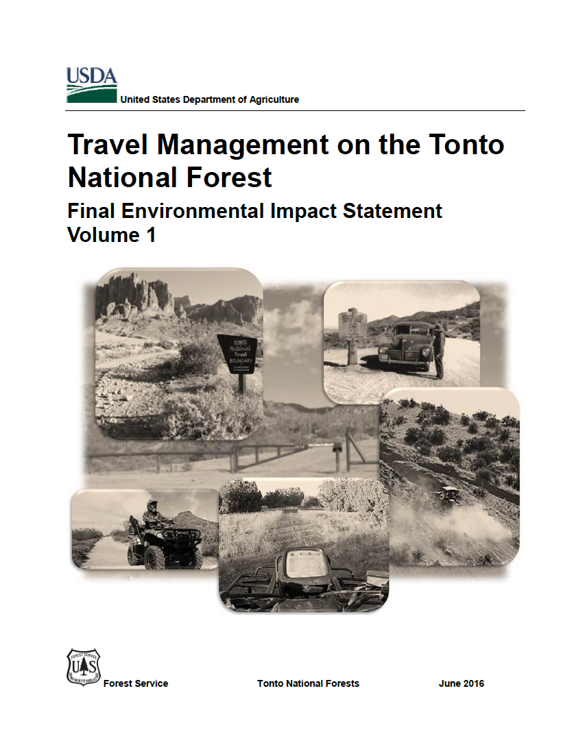 Thumbnail image of document cover: Travel Management on the Tonto National Forest Final Environmental Impact Statement