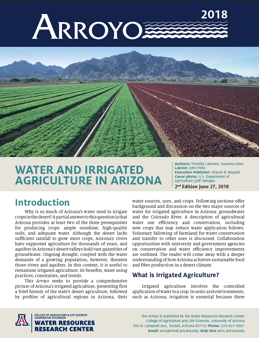 Thumbnail image of document cover: Arroyo 2018: Water and Irrigated Agriculture in Arizona